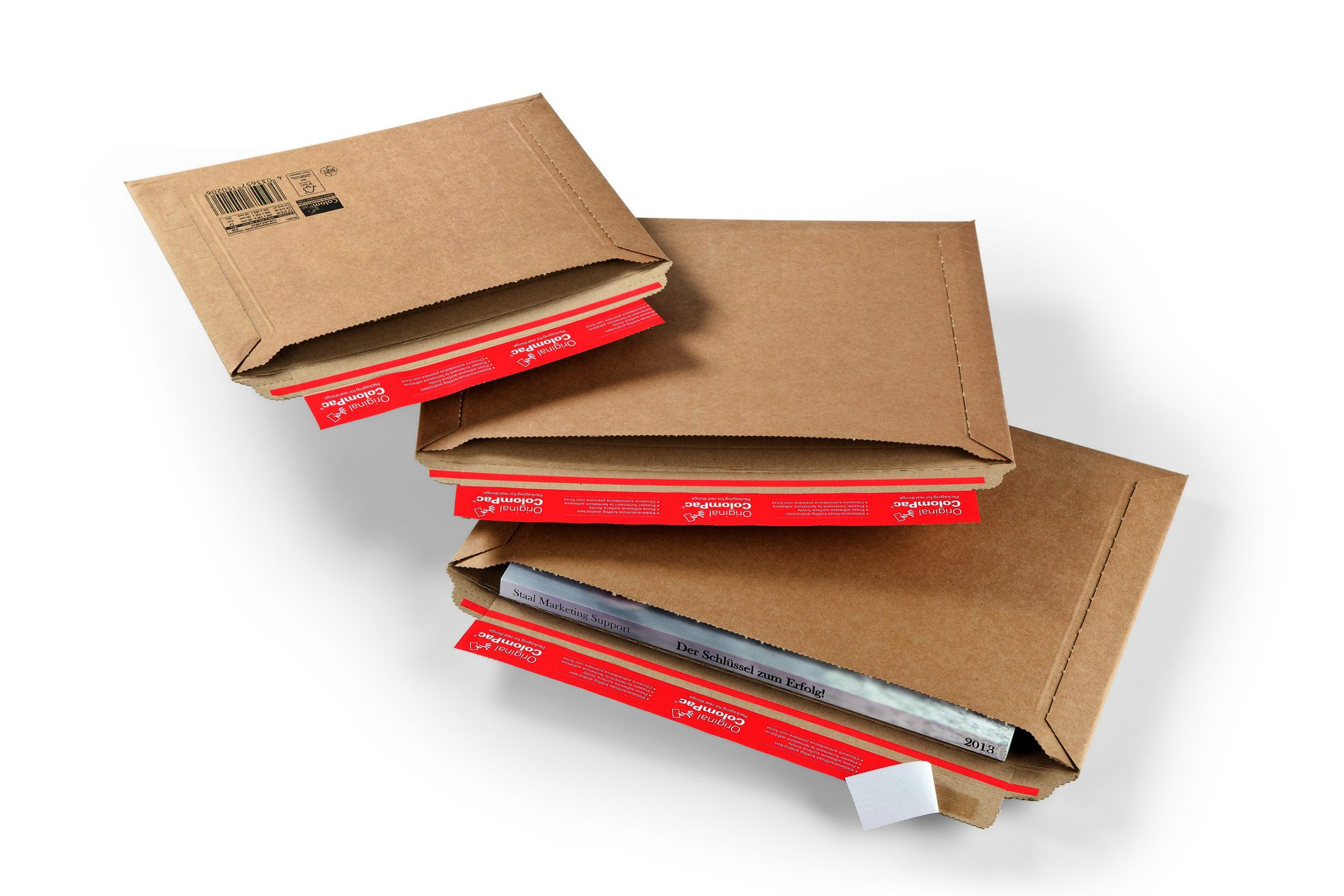 Colompac CP 15.06 minigolf kartonnen envelop sluiting lange zijde